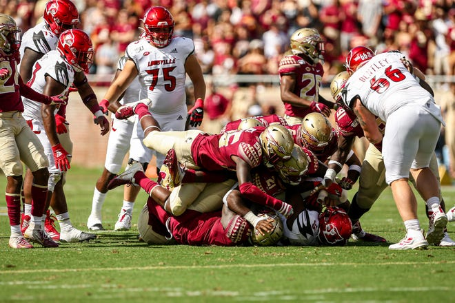 FSU's defense held Louisville to 124 rushing yards on Saturday.