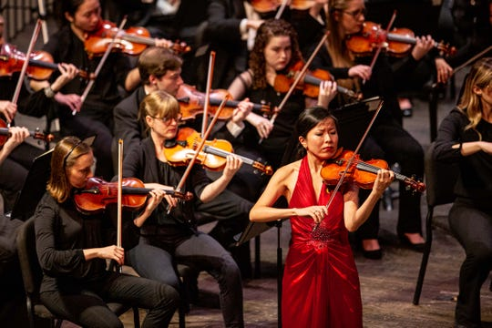 Violinist Nina Kim stands out for her moving solo of Beethoven's Violin Concerto in D Major.