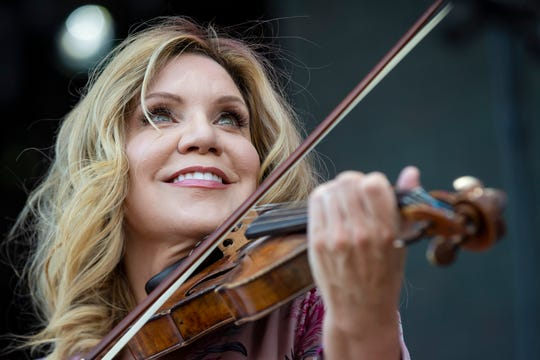 Alison Krauss performs on the Oak Stage on the second day of Bourbon and Beyond at the Highland Festival Grounds. Sept. 20, 2019