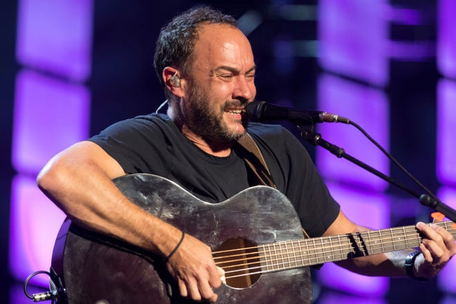 Dave Matthews performs an acoustic set with bandmate Tim Reynolds at Farm Aid Saturday, Sept. 21, 2019, at Alpine Valley Music Theatre in East Troy, Wis. Matthews has been on the board of Farm Aid since 2001.