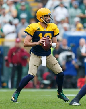 Perhaps the throwback look on quarterback Aaron Rodgers and the Packers needs a makeover.