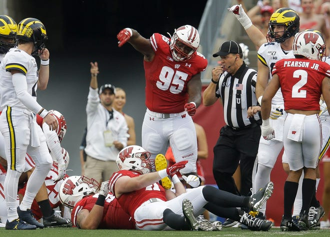 Nose tackle Keeanu Benton had 12 total tackles, including two sacks last season, but UW coaches will hope to see even more production this year.