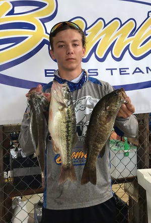 Mountain Home's Lance Lee won first place Saturday in the Twin Lakes High School Bass Tournament on Norfork Lake.