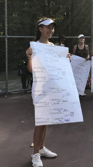 Chatham sophomore Cameron Sims won the Morris County Tournament third singles title.