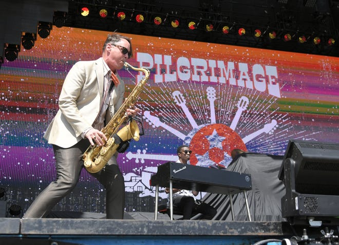 Clint Maedgen performs with Preservation Hall Jazz Band during the second day of the Pilgrimage Music & Cultural Festival at The Park at Harlinsdale Sunday, Sept. 22, 2019 in Franklin, Tenn.
