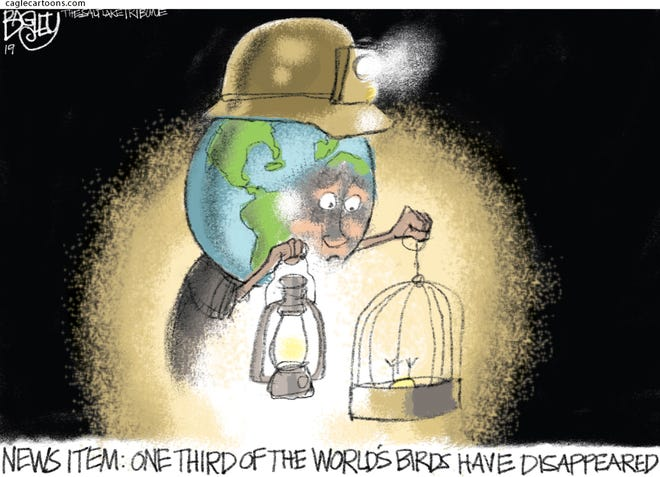 Earth's canary in a coal mine.