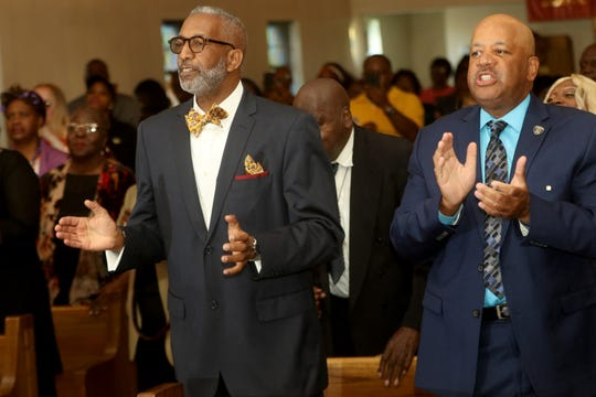 Deacon William Duren and Deacon Mike Williams  were among those at Mount Zion Baptist Church,  Sunday, September 22, 2019.