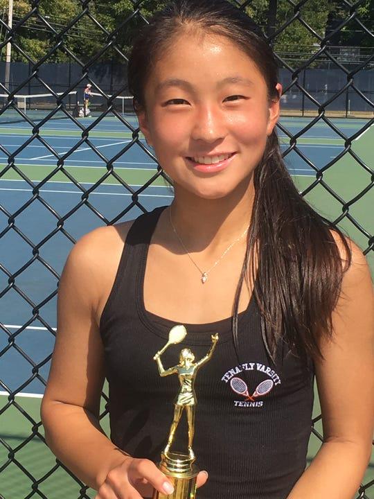 Tenafly's Erin Ha, Large schools 1st singles runner-up.