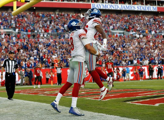 best cheap 9902f 0c31d NY Giants vs. Bucs: No Saquon, but Daniel Jones rallies for ...
