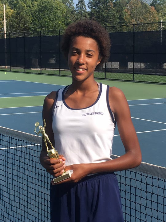 Rutherford's Nyakiriri Kanefu (first county champion from Rutherford), Small schools 2nd Singles champion.