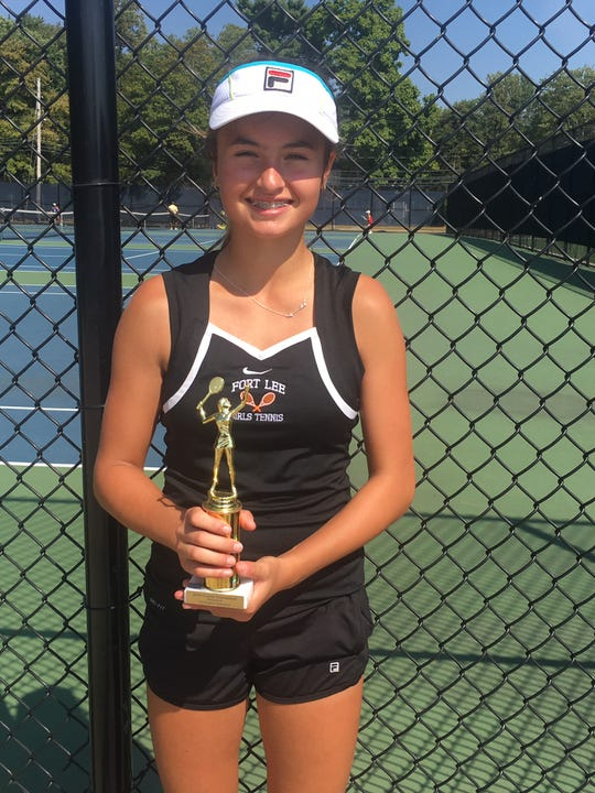 Fort Lee's large schools first singles county champion Stephanie Yakoff.