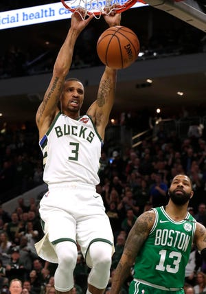 Bucks guard George Hill has gotten into the tradition of Wisconsin athletes slamming beers at sporting events.