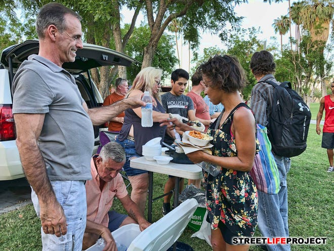 Street Life Project has provided food for individuals experiencing homelessness for the past five years in Sunrise Park. They are temporarily shutting down as they work with the city to address ordinance compliance.