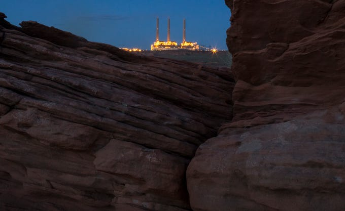 The Navajo Generating Station on July 2, 2019, near Page, Arizona.