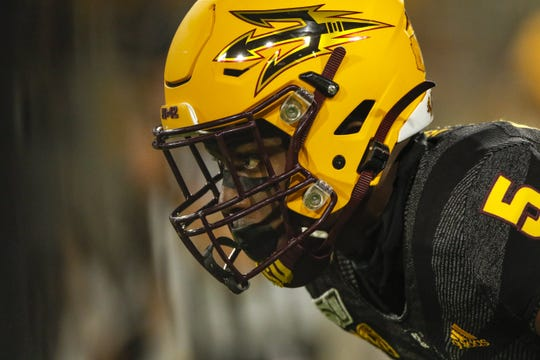Arizona State Defensive Back Kobe Williams looks at a Wide Receiver during the first half of their game against Colorado University in Tempe, AZ on September 21, 2019.