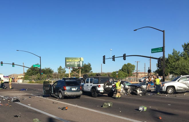 A crash involving 15 people happened September 22, 2019 in Gilbert.