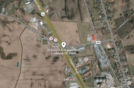 Location of a fatal crash near Frankford, Delaware on Route 113 on Sept. 20, 2019.
