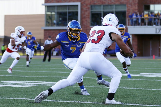 Seven Wilson and the Jackrabbits look to tackle Illinois State on Saturday at Dana J. Dykhouse Stadium.
