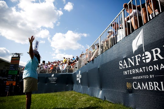 Fans watching the final round of the Sanford International are advised to keep quiet on Sunday, Sept. 22, 2019.