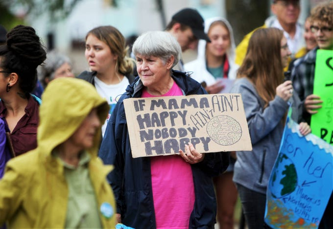 Scenes from a climate strike at Park Central Square in Springfield Sunday, Sept. 22, 2019.
