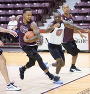 MSU Bears alumni got together for a basketball game Saturday, Sept. 21, 2019 at Hammons Student Center in Springfield, Mo.