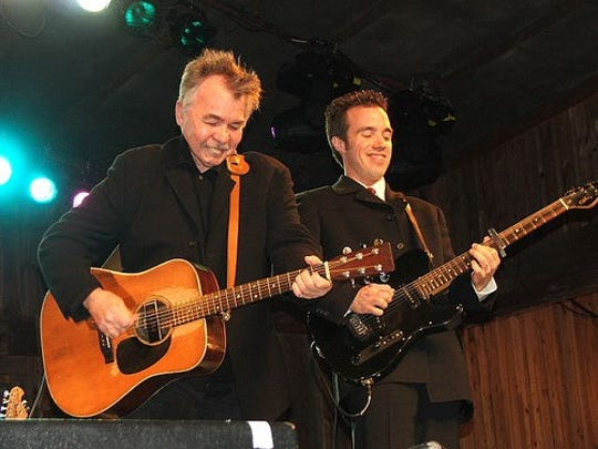 Jason Wilber, right has been the guitarist for John Prine for more than two decades. He'll perform Oct. 11 at the Mansion at Elfindale ballroom.