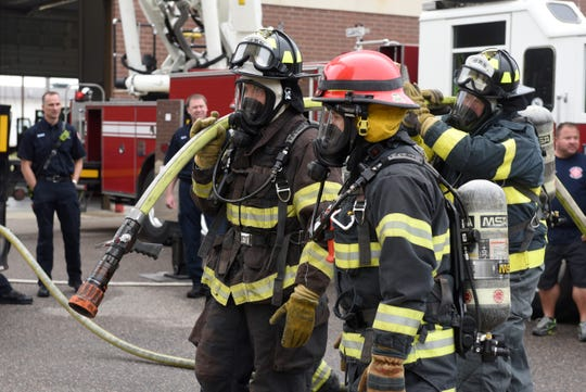"""The St. Cloud Professional Fire Fighters of IAFF Local 1712 host a """"Fire Ops 101"""" program for elected and appointed officials in September 2019. Firefighters respond to calls regarding medical attention, accidents, fires, hazardous materials and more."""