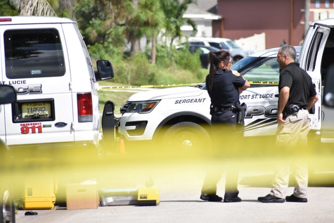 The scene of what police called a double murder-suicide, at 3291 SW Constellation Road in Port St. Lucie, Fla., is pictured Sunday, Sept. 22, 2019.