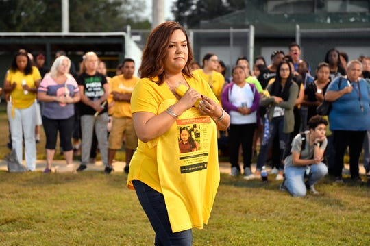 The vigil for missing 5-year-old Dulce Maria Alavez was organized by Jackie Rodriguez.