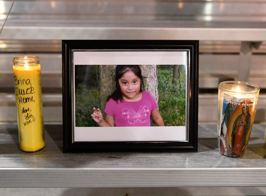 Hundreds gathered at a vigil in Bridgeton on Saturday night to pray for the safe return of 5-year-old Dulce Maria Alavez.