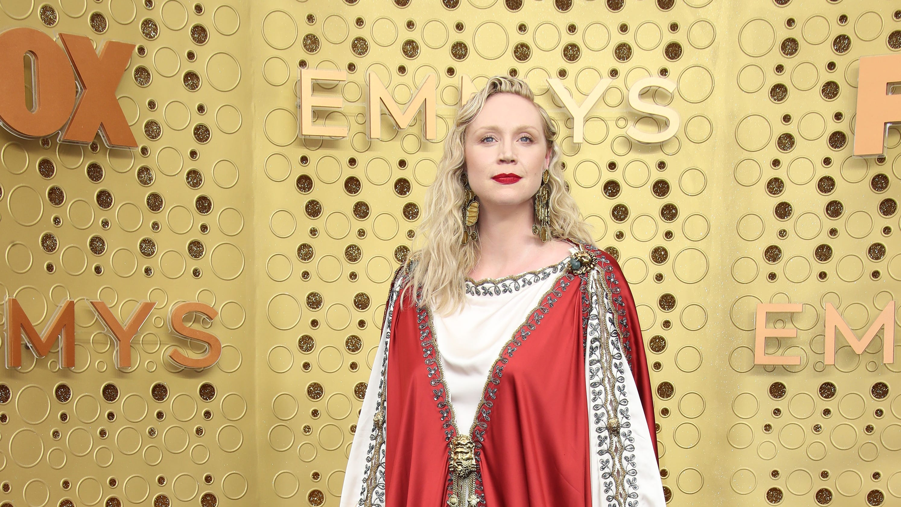 'She has risen': Gwendoline Christie compared to the Pope on the red carpet