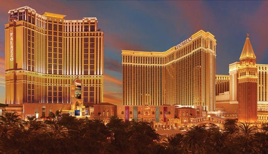 Thousands of slot and poker machines are housed inside the Venetian and sister Palazzo