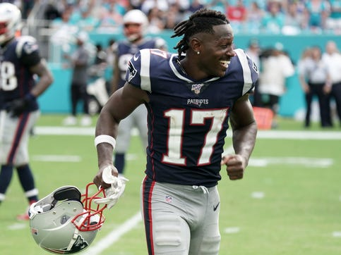 Antonio Brown was cut by the Patriots after just 11 days.
