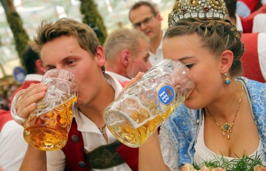 Oktoberfest 2019 is underway in Munich, Germany.