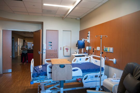 "The new North Tower at Mission Hospital adds 220 new patient rooms to the hospital which are larger, feature a couch with a pull-out bed for visitors as well as ""audio-spotlighting"" technology."