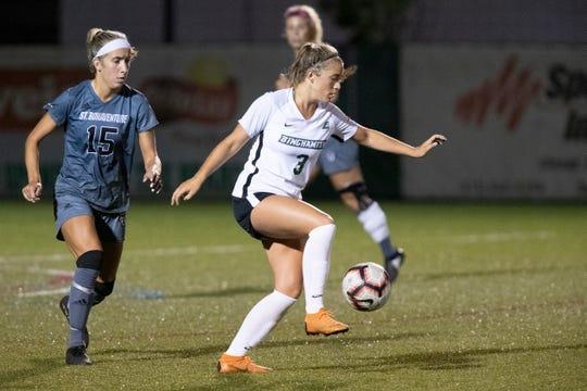 Vestal graduate Olivia McKnight leads the Binghamton University women's soccer team in scoring with 11 points through 10 games.