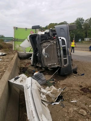 A Pennsylvania man driving a tractor trailer hauling compressed natural gas was thrown from the vehicle and killed early Monday, Sept. 23, 2019, on Interstate 88 in the Town of Fenton.