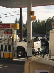 The Washington Immigrant Solidarity Network shared this photo Monday from the Shell gas station off Segwick Road in Port Orchard.