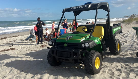 Multiple rescue vehicles and a rescue water craft were used to search for a 29-year-old man from Kissimmee who disappeared in the waves just north of Minuteman Causeway on Monday, Sept. 23, 2019.