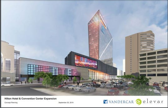 Hilton Signia hotel and convention center expansion rendering