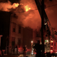 Cincinnati fire crews are battling a large, three-alarm blaze at Halstead and Addison streets Monday morning.
