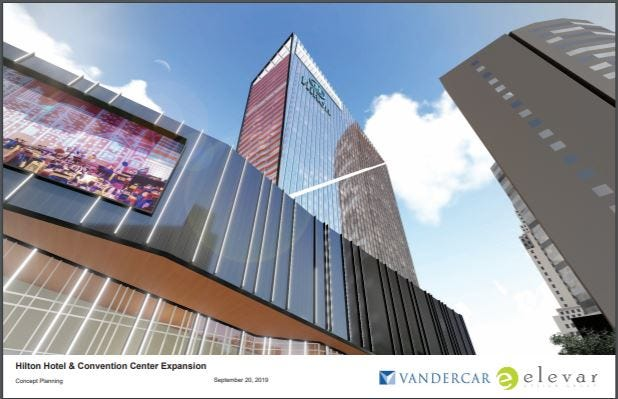 Signia Hilton hotel and convention center expansion rendering