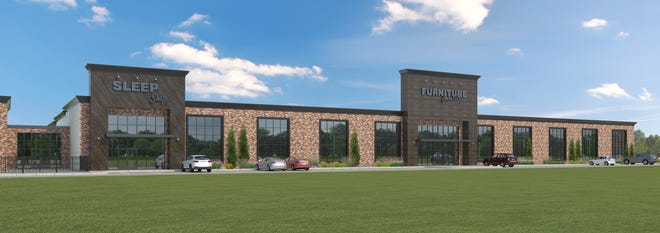Artist's rendering of planned Furniture Connection store