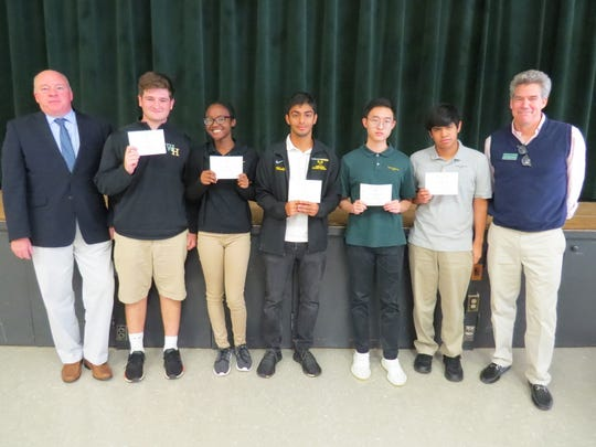 Five W+H students have been named Commended Students in the 2020 National Merit Scholarship Program. Congratulations to, pictured from left with Andrew Webster, Head of School, and Chris Teare: Ryan Brace of Scotch Plains, Sydney Johnson of Piscataway, Sahil Mulji, Kenneth Shen of Edison and Kevin Vasquez of North Plainfield.