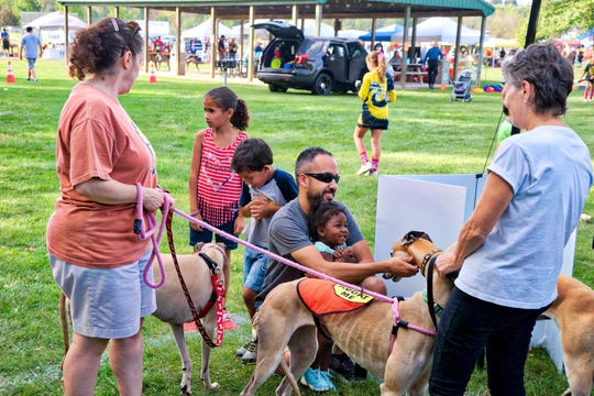 Greyhound Friends of NJ (GFNJ) will host a Meet & Greet during Raritan Township Community Day at Lenape Park, 115 Sergeantsville Road, Flemington, from noon to 5 p.m. on Saturday, Sept. 28.