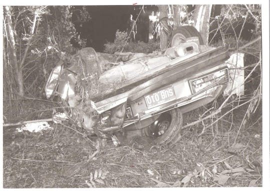 Mark Block's car after a 1986 accident where he was crushed by the car. He was pronounced dead at the scene and later told he would be paralyzed the rest of his life. Saturday he honored those who saved him at Life Flight's 40th anniversary party.