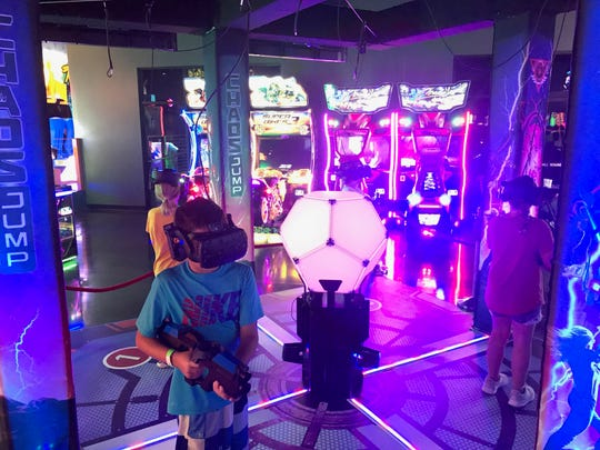 Great Escape - The Ultimate Experience has expanded its arcade area, adding 37 new game machines. Among them is Chaos Jump, a four-player virtual reality game.