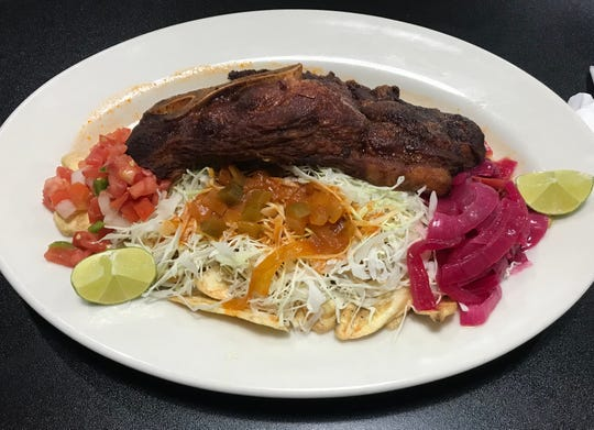 A plate from El Rincón Catracho 2, a new Honduran restaurant in Des Moines.