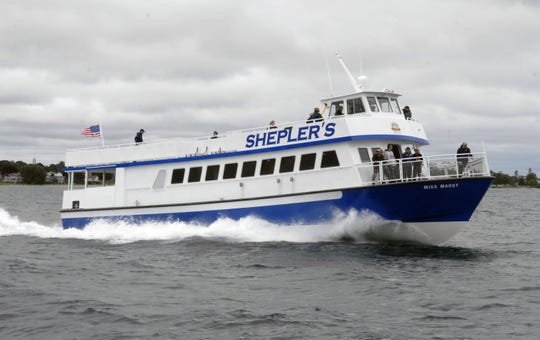 The Miss Margy is one of ferries that takes passengers from Mackinaw City, Mich., to Mackinac Island.