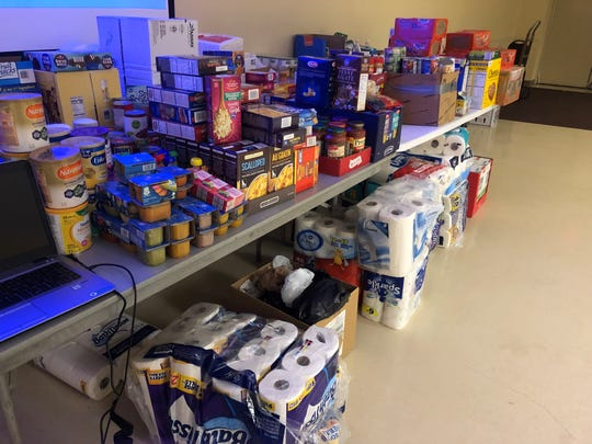At UAW Local 163 businesses, residents and other unions have donated hundreds of items of food, water and other goods to help struggling strikers.